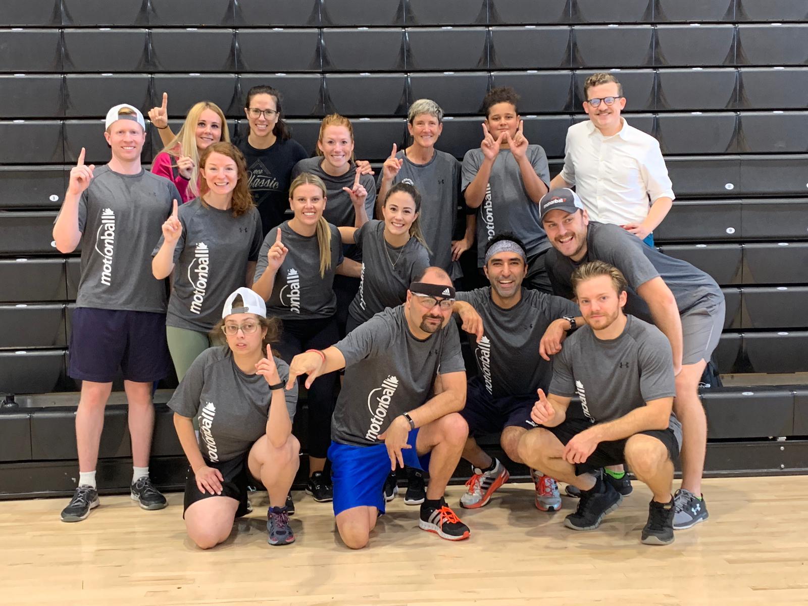 Group photo at motionball 2019