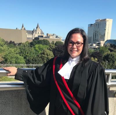 Samantha Iturregui after being sworn in as a Deputy Judge